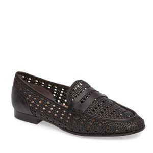 Sam Edelman Leora Black Woven Loafer Leather 6.5